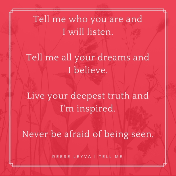 Poem - Tell Me
